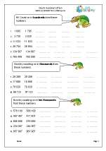 Worksheets Multiplying By Powers Of 10 Worksheet count in powers of 10 number and place value maths worksheets for year 5 age 9 10