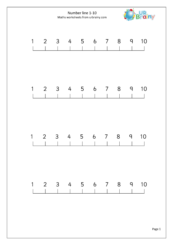 Preview of 'Number Line 1-10'