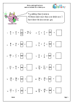 More adding fractions