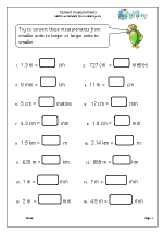 Measuring maths worksheets for year 5 age 9 10
