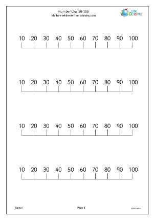 Number Names Worksheets : number line to 100 worksheet Number Line ...