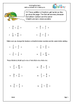 Harder adding fractions (1)