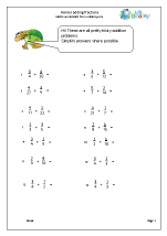 Harder adding fractions (2)
