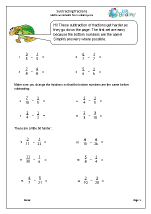 Harder subtracting fractions (1)