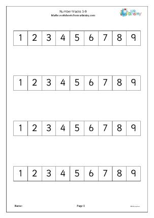 Number Track 1-9