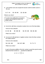 Investigate Numbers and Shapes using Algebra (1)