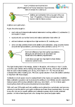 2014 Programme of Study: Year 1 Addition and Subtraction