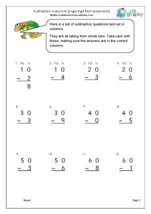 Subtraction in columns (2)