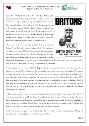 First World War: Kitchener's Volunteer Army