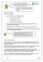 Programme of Study: Year 3 Addition and Subtraction