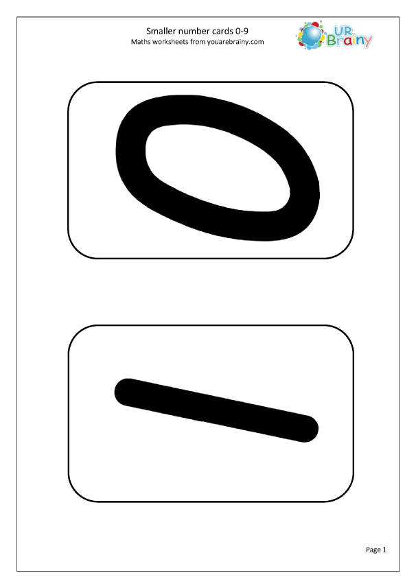 Preview of 'Number Cards 0-9 Smaller'