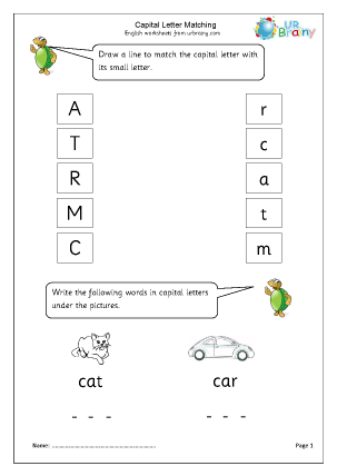 Preview of worksheet Introducing capital letters