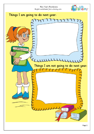 Preview of worksheet New Year Resolutions (1)