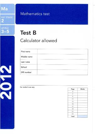 Maths Paper B 2012