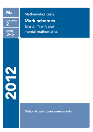Maths 2012 Mark Scheme