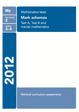 Maths 2012 Mark Scheme