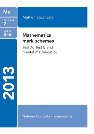 Maths Mark Scheme 2013