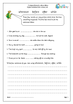 Conjunctions to show time