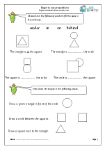 Begin to use prepositions