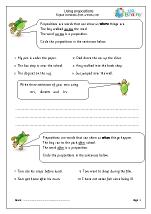 Using prepositions