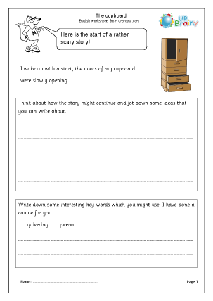 Preview of worksheet Cupboard
