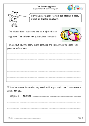 Preview of worksheet Easter Egg Hunt
