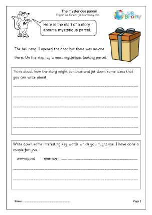 Preview of worksheet The Mysterious Parcel