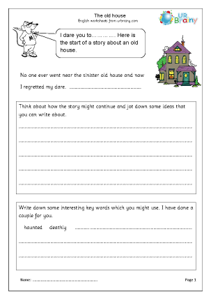 Preview of worksheet The Old House