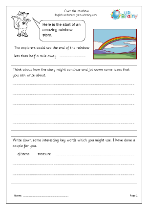 Preview of worksheet Over the Rainbow