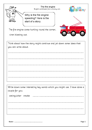 Preview of worksheet The Fire Engine