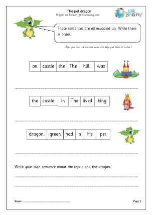 Preview of worksheet The Dragon (Year 1/2)
