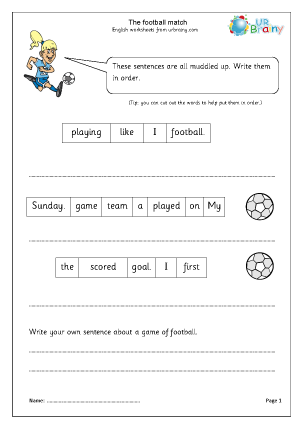 The Football Match (Year 1/2)
