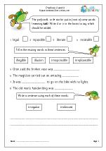 Prefixes: il and ir