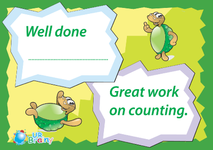 Preview of worksheet Reward - Great Work on Counting