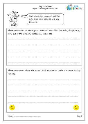 Preview of worksheet My classroom