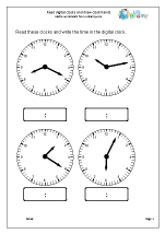 Read digital clocks
