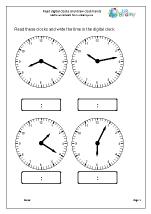 Read digital clocks