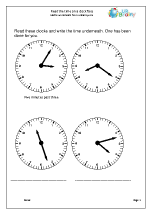 Read time to the minute