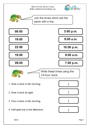 More on the 24 hour clock