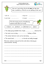 Word Endings English Worksheets for Middle/Upper Primary Spelling