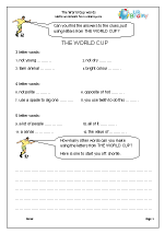 World Cup Words