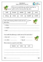 Word list 2 (years 3-4)