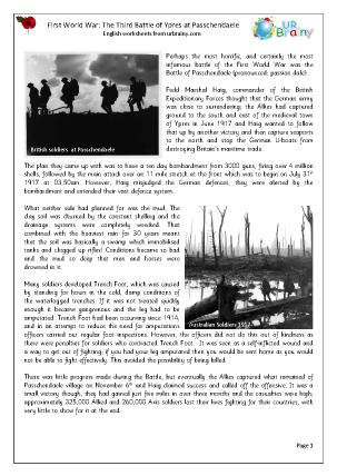 The Third Battle of Ypres (Passchendaele)