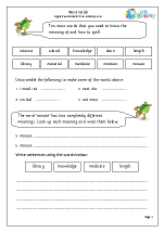 Word list 6 (years 3-4)