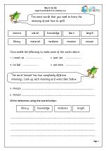 Word list 6 (years 3-4)