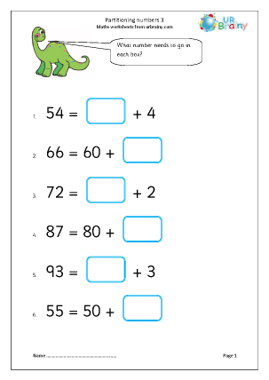 Partitioning Numbers 3