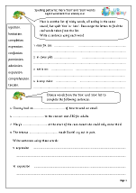 more sion and tion words english worksheet for key stage 1. Black Bedroom Furniture Sets. Home Design Ideas