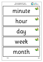 Time vocabulary