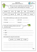 Word list 9 (years 3-4)