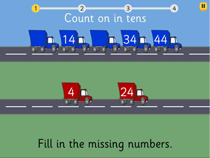 Preview of game Count on in tens to 100